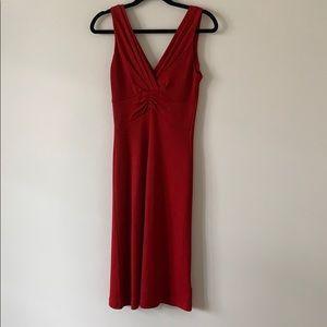 Banana Republic Strapless Rouche Dress Red Size 4